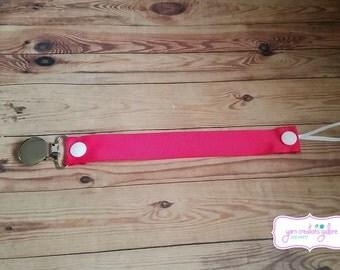 Soothie Pacifier Holder--Dark Pink