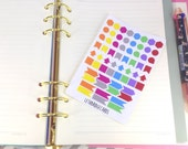 Mini shapes planner stickers; Bright Stickers; Filofaxing; Erin Condren; Cute Stickers; Inkwell Press; Kawaii Stickers; Colour Coding