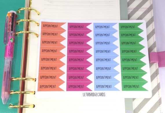 Appointment Vinyl Planner Stickers Filofaxing Erin