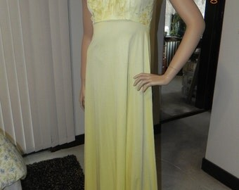 Bright Yellow strap dress with thin matching shawl. Size 6.. Very Pretty