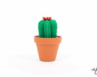 Potted Felt Cactus, Decor, Pin Cushion