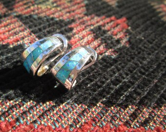 Opal and Sterling Post Earrings