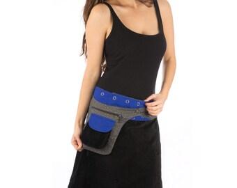 SALE !!!! Black Velvet Free Size Reversible Cotton Knee Length Skirt Blue Cotton Reverse