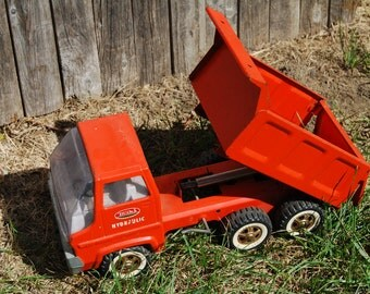 rare 60s Tonka dump truck hydraulic Gas Turbine 2585 toys orange htf vtg construction recreation vintage pressed steel kids car metal