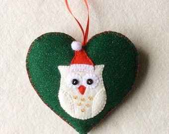 Christmas Owl Ornament PDF Sewing Pattern and Tutorial, Instant  Download, Easy Step-by-Step Instructions