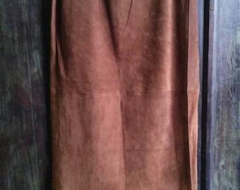 Vintage Double D Ranch Wear Suede Fringe Skirt