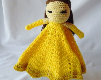 Princess Belle Inspired Lovey/Security Blanket