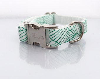 "Adjustable dog collar ""Evergreen"""