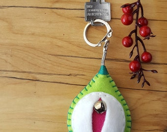 Vaginament® vagina key chain • vulva fob, rearview mirror charm • midwife, doula, doctor, nurse thank you • ready within a week