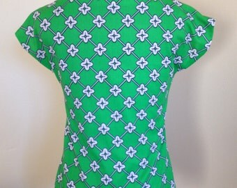 Kelly Green Vintage Polyester Blouse