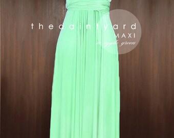 SALE - Petite Maxi infinity dress in Apple green