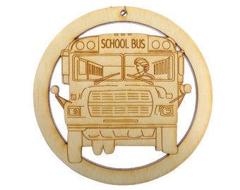 Bus Driver Ornament, Female - Bus Driver Gift - School Bus Driver Ornaments - Gift for Bus Driver - School Bus Gifts - Personalized Free