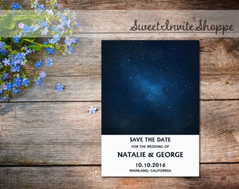 Starry Night Save The Date, Under The Stars Wedding Invitation, Galaxy Invitation, Night Sky Save The Date, Stars Invitation, Stars Wedding