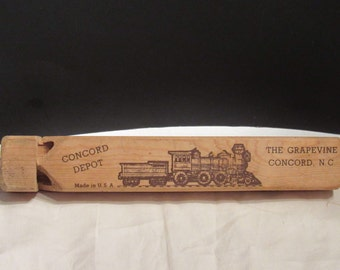 Vintage Wooden Train Whistle Wood Toy Whistle