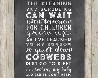 11x14 Babies Don't Keep Nursery Wall Art, Nursery Art Print, Typography Art Poster, Nursery Print, Digital Poster, Instant Digital Download