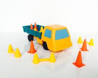 Vintage Playskool Truck and Construction Cones