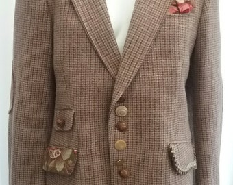Customised vintage tweed jacket