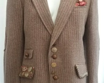 SALE! Customised vintage tweed jacket