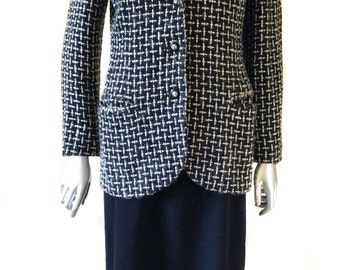 Vintage Trovare Black and White Blazer