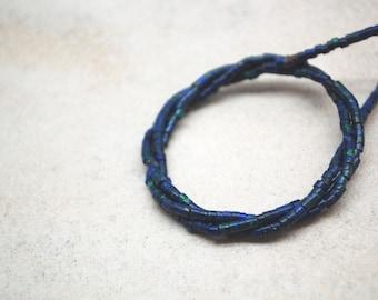 Azurite Rondelle Beads 2mm