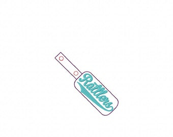 Rattlers - Team Name - In The Hoop - Snap/Rivet Key Fob - DIGITAL EMBROIDERY DESIGN