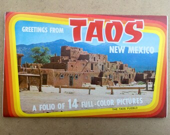 Vintage Postcard Book: Greetings from Taos, New Mexico