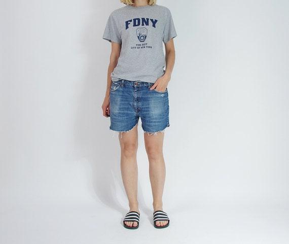 SALE! 90s EDWIN Denim Baggy Boyfriend Fit Street Style Cut Off Shorts