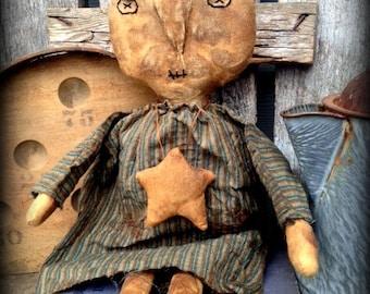 Extreme Primitive Folk Art Ugly Doll--Ruth--Handcrafted, Farmhouse, hafair team,FAAP