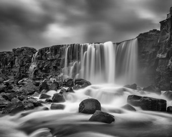 Fine Art Photography, Iceland, Waterfall, Oxararfoss