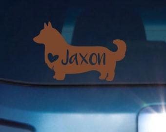 Corgi Dog Decal, Corgi Car Decal, Corgi Decal, Corgi Sticker Decal, Corgi Sticker, Corgi Dog