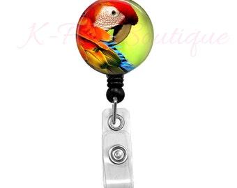 Greenwing Macaw Badge Reel