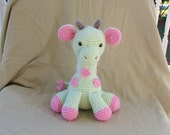 Crochet Giraffe, Amigurumi Giraffe, Giraffe Stuffed Animal, Giraffe Plushie, Made to Order, You choose colors