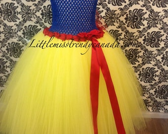 Snow White Inspired Tutu Dress-Tutu Dress-Children's Tutu Dress, Snow White, Snow White Birthday Dress, Snow White Tutu Costume, Snow White