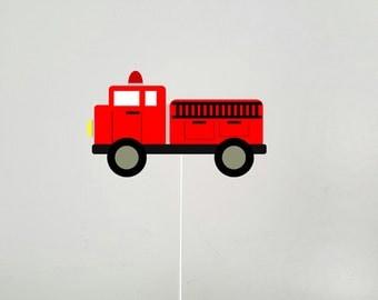 Firetruck Cake Topper