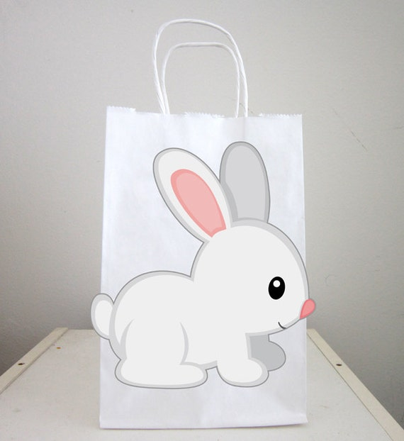 Bunny goody bags rabbit favor bags easter goody bags rabbit il570xn negle Images