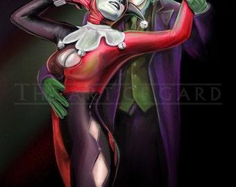 Harley and Joker (Heath Ledger) 11X17 print