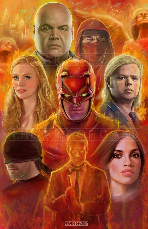 Daredevil (Season I Collage) 11X17 Art Print