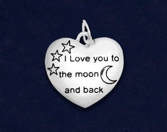 I Love You To The Moon And Back Charm (Retail) (RE-CHARM-83)