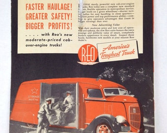 1930s REO Dealer Paper Pamphlet Antique Car Pamphlet REO Trucks Advertising Packet 1930s REO Paper Automotive Dealer Packet