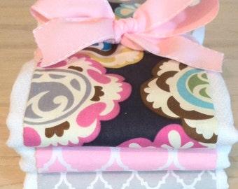 Boho Chic Burp Cloth Set - Baby Shower Gift
