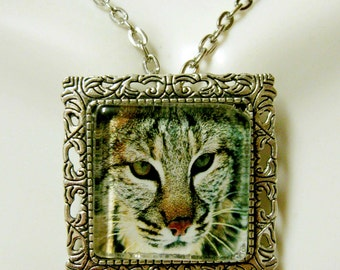 Clouded leopard convertible pendant or brooch with chain - WAP35-008