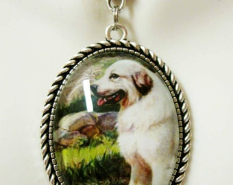 Great Pyrenees pendant with chain - DAP09-501