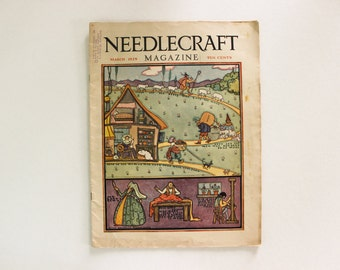 COMPLETE · Needlecraft Magazine March 1929 · Antique Vintage Sewing Crochet Home Decor Embroidery Fashion Plate