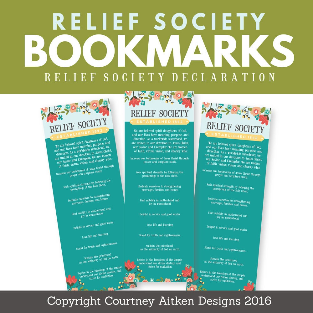 Witty image for relief society declaration printable