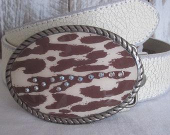 belt buckles Leopard Print belt buckle embellished belt buckle mens belt buckle women's belt buckle Country Western Lavish Lucy Designs