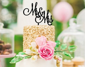 Wedding Cake Topper - Mr & Mrs Cake Topper