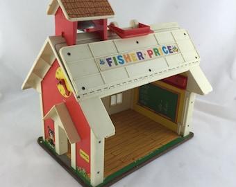Vintage Fisher Price School House 1971