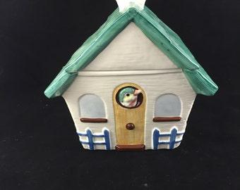 Vintage Bird House Cookie Jar