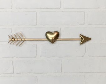 Gold Arrow-You Pick Color/Bohemian/Boho/Boho Chic/Nursery/Heart/Arrow Set/Wall Decor/SSLID0293/Tribal/Pointing Arrow/Modern/Kids Room