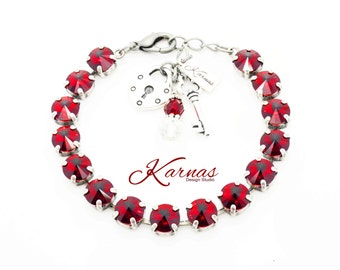8MM Bracelet PICK YOUR COLOR and Choose Your Finish *Swarovski Crystal * Karnas Design Studio *Free Shipping* Tag Only